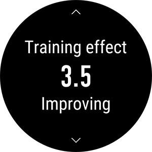トレーニングが終わると5段階で評価してくれる。3.0以上は体力が増強される効果的なトレーニングと考えられる。5.0はやりすぎ。