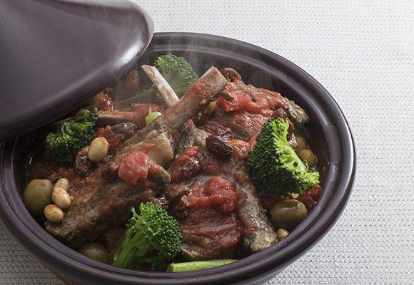 ラムと大豆のタジン鍋