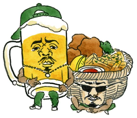ビール+揚げ物