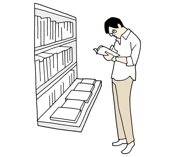 書店に行って本を買う