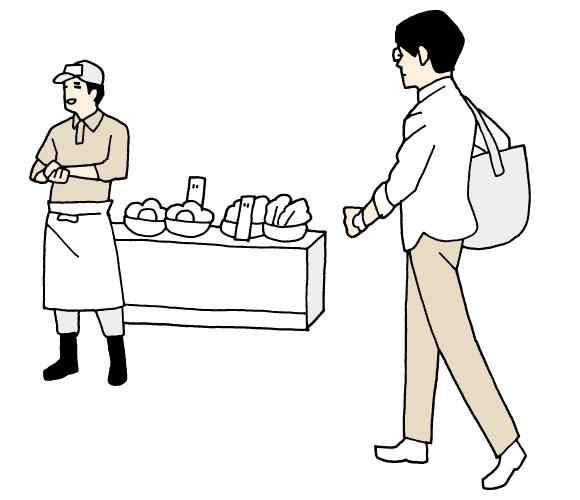 専門店に行って食材を買う