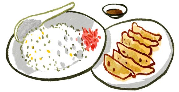 炒飯&餃子(6個)