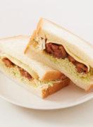 今日のタンパク飯「焼き鳥サンド」