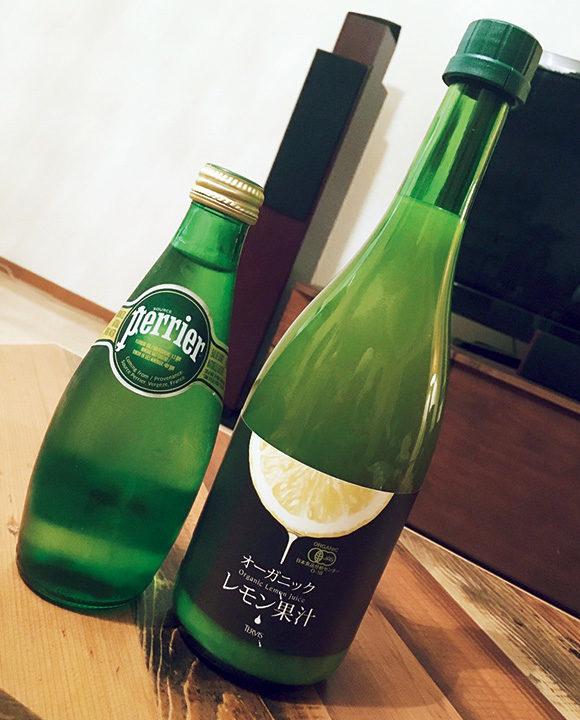 炭酸水&レモン果汁