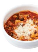 低脂質&高タンパクでコスパも抜群! 魚肉ソーセージとゆで大豆のトマト煮