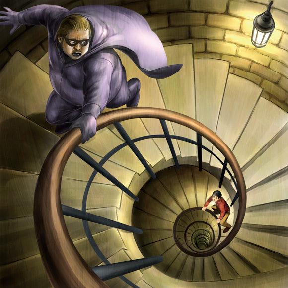 螺旋階段を逃げまどう黒林檎男爵
