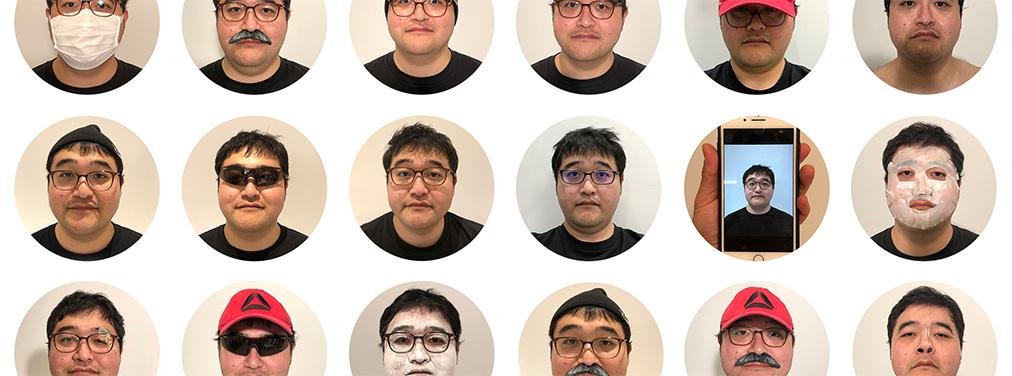 iPhone XのFace IDで、二十面相試してみた。