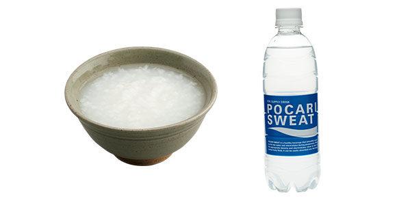 お粥、経口補水液